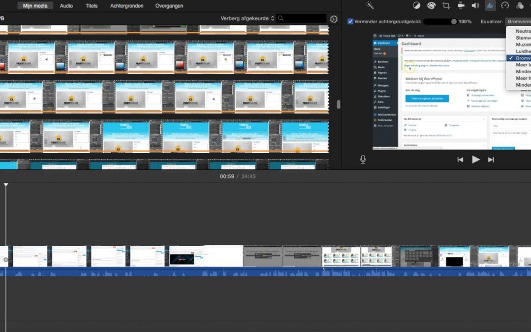 Met iMovie geluid aanpassen