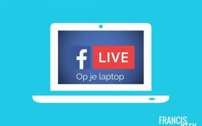 Facebook Live via je laptop